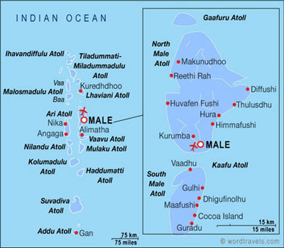 Maldives Location Worldmap